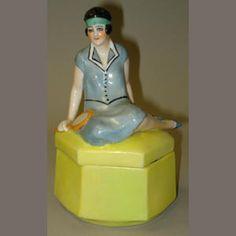Bonhams 1793 : Tennis Lady dressing table box