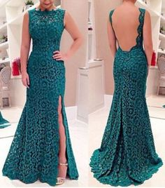 Sexy Lace Plunging Neck Sleeveless Backless Women's DressMaxi Dresses | RoseGal.com