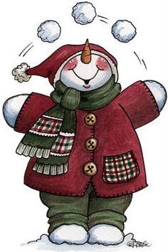 Snowman ❄️ Let it Snow - Carla Simons - Picasa Web Albums Clipart Noel, Snowman Clipart, Christmas Clipart, Christmas Printables, Christmas Pictures, Christmas Snowman, Winter Christmas, All Things Christmas, Vintage Christmas