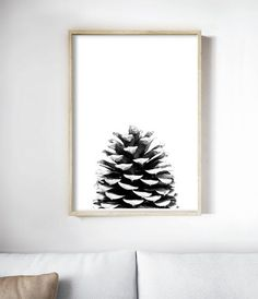 Scandinavian Art Print, Scandinavian Poster, Scandinavian Interior, Rustic Home Decor, Black and White Pine Cone Print. Art Prints for the Walls of your Home by Little Ink Empire on Etsy Black And White Interior, White Interior Design, Pine Cone Art, Pine Cones, Boconcept, Scandinavian Poster, Scandinavian Interior, Scandinavian Style, Pine Cone Drawing