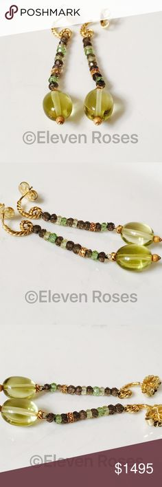 David Yurman 18k Citrine Quartz Tweejoux Earrings David Yurman Citrine & Smoky Quartz Tweejoux Dangle Drop Earrings - 750 18k Yellow Gold - Citrine, Lemon Citrine, Smoky Quartz & Prasiolite Gemstones / Beads - Hallmarked;  DY, 750 - Exact Size As Shown - Preowned / Preloved  💕 May Show Slight Signs Of Having Been Worn.   📷  Listing Images Are Of Actual Item Being Offered David Yurman Jewelry Earrings