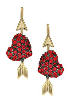 Kate Spade New York Be Mine Heart Ear Pins (Red) Earring - Kate Spade New York, Be Mine Heart Ear Pins, WBRUD287-600, Jewelry Earring General, Earring, Earring, Jewelry, Gift, - Fashion Ideas To Inspire