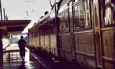 Travel websites: Arriving by train in Lisbon: a shot from the Road Rail Sea website. Photograph: Simon Buckley