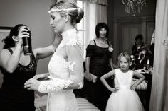 Her dress is fantastic. And the little girl's face is fantastic as well!
