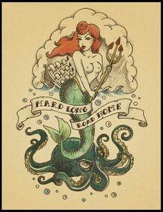 Image de mermaid and paint