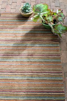 Brindle Stripe Spice Hand Knotted Rug