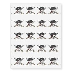 #Temporary Tattoo Sheet-Pirate Skull - #giftideas for #kids #babies #children #gifts #giftidea