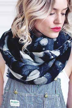 The perfect scarf with a subtle galaxy print for a not-too-out-there space enthusiast.