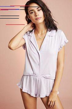 See this Eberjey Ruthie Sleep Set from Anthropologie. Sleepwear Women, Pajamas Women, Sleep Dress, Cotton Underwear, Sleep Set, Home Design, Anthropologie, Suits, Nightwear