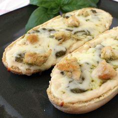 Chicken Alfredo and Pesto French Bread Pizza | Rotisserie Chicken Recipe Ideas | Quick & Easy Recipes | Food | Disney Family.com