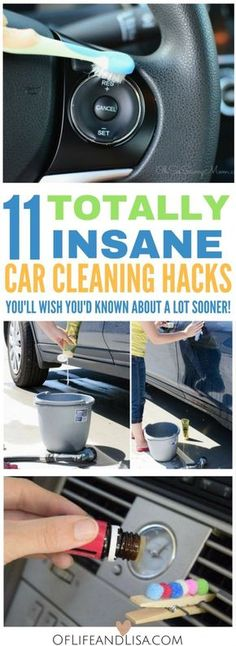 Clean your car like a pro and save a ton of money. Check out this post to see 11 amazing diy car cleaning hacks and tips.