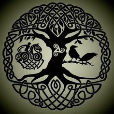 This would make a great tattoo.... Yggdrasil, the world ash tree ...