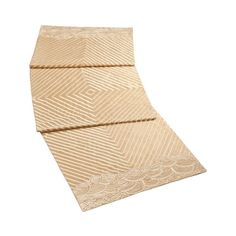 Natori Gobi Palace Embroidered Bed Runner Gold Silk Blend New in Box