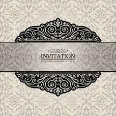 Purple vintage invitation cards cover vector templates download luxury vintage silver frame creative ornamental banner damask graphic ornaments invitation card antique style booklet pattern template for designg stopboris Choice Image