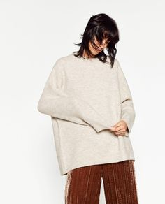 MAXI ROUND NECK SWEATER-Sweaters-KNITWEAR-WOMAN | ZARA United States