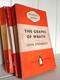 Vintage Penguin Classics Book The Grapes of Wrath by John Steinbeck..I adore his stories and characters.