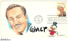 First Day Stamp Covers Value | First Day Cover with hand-drawn, hand-painted add-on cachet by artist ...