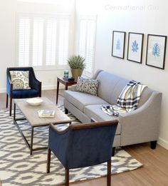 Featuring: Enjoy a modern and clean living room with nuLOOM Soft Grey Hand Tufted Rhina. nuloom, rugs, area rug, rugs, pattern, gray, living room, home decor, interior design