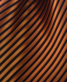Striped Pocket Square - Orange & Black