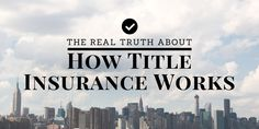 Title insurance is a crucial component of every real estate transaction, but do you really understand the nuts and bolts of how title insurance works?  Learn here: http://www.biggerpockets.com/renewsblog/2015/01/08/what-is-title-insurance/
