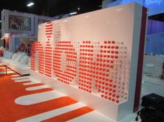 Nickelodeon sign made from #recycled poster tubes @Li Zeng 2012 #exhibit #signage