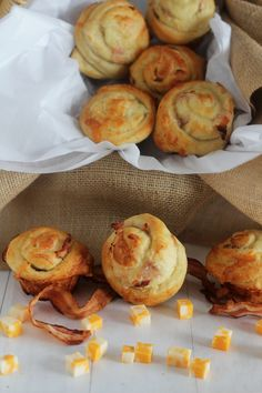 Bacon Cheddar buns