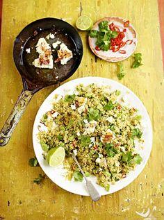 Feta, Broad Bean and Quinoa Salad | Vegetable Recipes | Jamie Oliver