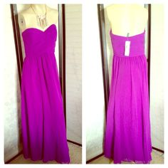 I just discovered this while shopping on Poshmark: NWT Ralph Lauren Purple Strapless Long Gown. Check it out! Price: $100 Size: 10, listed by thanhie