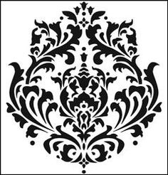 Damask Stencil Cutting Edge Stencils - Brocade Stencil - for painting on furniture.Cutting Edge Stencils - Brocade Stencil - for painting on furniture. Damask Stencil, Stencil Patterns, Stencil Designs, Stencil Walls, Damask Patterns, Furniture Stencil, Painting Stencils, Stenciling, Cutting Edge Stencils