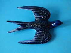 RARE OLD COLLECTABLE VINTAGE PORCELAIN SWIFT SWALLOW BIRD WALL PLAQUE FREE UK PP  | eBay