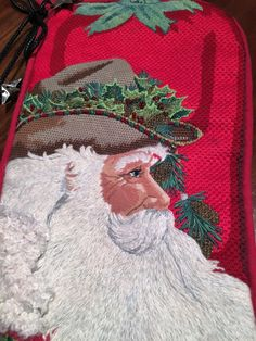 Cowboy Santa Pepper Needlepoint Stocking_Renegade Needlepointer