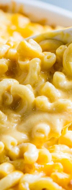 Super Creamy Mac and Cheese with cheddar, monterey jack, and…