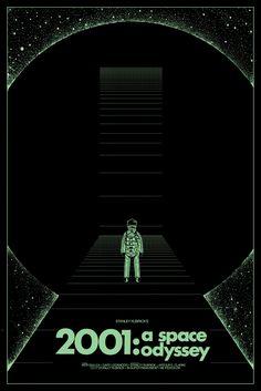 "Affiche originale Mondo : A Space Odyssey"" par Kilian Eng (?) Variant Red Glow in the Dark edtion 15 exemplaires au monde screenprint , Taille Arte Pink Floyd, Kilian Eng, Science Fiction, Arte Sci Fi, 2001 A Space Odyssey, Pulp, Sci Fi Movies, Fiction Movies, Minimal Poster"