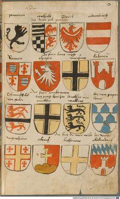 Wappen besonders von deutschen Geschlechtern Süddeutschland ?, 1475 - 1560 Cod.icon. 309  Folio 3r