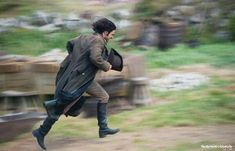 Aidan Turner running ... Via  Poldark Photos @PoldarkPhotos - Think this one calls for a caption competition! #Poldark Photo: @TimMPhoto