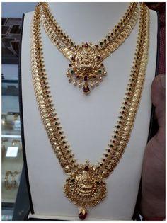 Jewelry Design Earrings, Gold Earrings Designs, Necklace Designs, Gold Haram Designs, Gold Temple Jewellery, Gold Wedding Jewelry, Gold Necklace Simple, Gold Jewelry Simple, Gold Bangles Design