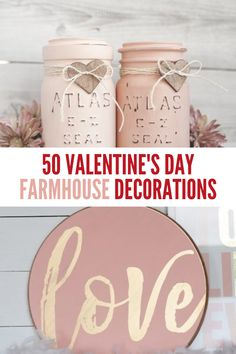 Add a touch of country charm to your home with these farmhouse valentine's day decorations. From DIY Valentine's Day garlands to DIY Valentine's Day wreaths, there are plenty of DIY farmhouse valentines day decor ideas to choose from. Diy Valentines Day Wreath, Valentine Box, Valentines Day Decorations, Valentine Day Crafts, Cheap Diy Home Decor, Country Charm, Valentine's Day Diy, Garlands, Crisco Recipes