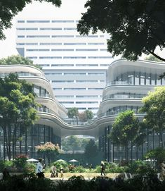 SAN Chinese Architecture, Modern Architecture House, Futuristic Architecture, Landscape Architecture, Landscape Design, Architecture Design, Modern Houses, Pavilion Architecture, Architecture Portfolio