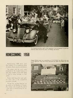 Athena Yearbook, 1959. Ohio University Homecoming, 1958.