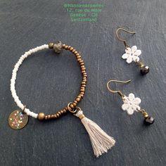 Spring ? #histoiredeperles #workinprogress #bracelet #earrings #DIYbijoux Tassel Necklace, Beaded Bracelets, Spring, Costume Jewelry, Jewelry Accessories, Detail, Instagram, Earrings, Diy