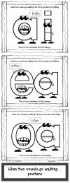 "4 pages. Three posters with the most popular vowel digraphs that fit the ""When…"