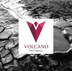 """""""Volcano"""" travel agency logo by Liza Hasanova, via Behance"""