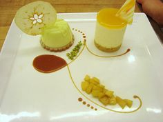 Dessert Plating-cheescake mousse