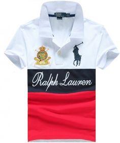 POLO RALPH LAUREN WHITE NAVY RED