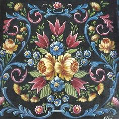 Not Rosemaling. From Germany not Norway.