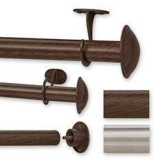 Use this sturdy curtain rod in any room or outdoors to create an elegant look. This indoor or outdoor curtain rod features a rust-resistant finish in a shade of stainless steel or ant brown. The set comes with one rod, two brackets, and hardware. Double Curtains, Drop Cloth Curtains, Long Curtains, Burlap Curtains, Hanging Curtains, Bathroom Curtains, Window Curtains, Roman Curtains, Layered Curtains