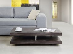 Coffee Table - Side table - Ebony varish - Dark brown - LAGOA