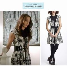 Pretty Little Liars 324: Spencer's (Troian Bellisario) printed shirt dress | Details on the blog: popdetour.tumblr.com #PLL #tvfashion #style #outfits #fashion