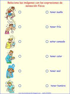 tener expressions multiple choice visual (also includes estar cansado) Spanish Grammar, Spanish Vocabulary, Spanish Language Learning, Spanish Teacher, Teaching Spanish, Spanish Lesson Plans, Spanish Lessons, Spanish Basics, Spanish 1