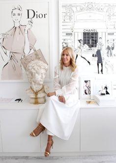 Fashion artist Megan Hess's studio